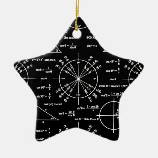 Trig & Triangles Ceramic Ornament