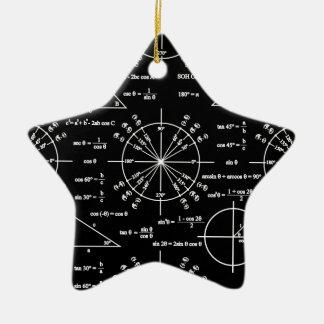 Trig & Triangles Ceramic Ornament