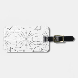 Trig & Triangles Tags For Bags