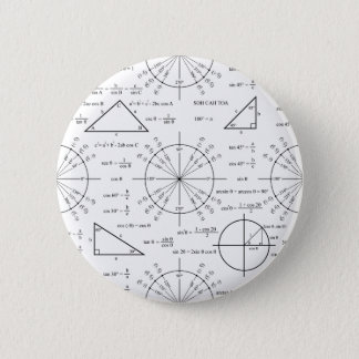 Trig & Triangles Pinback Button