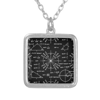Trig & Triangles Silver Plated Necklace