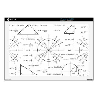 "Trig & Triangles 17"" Laptop Skins"