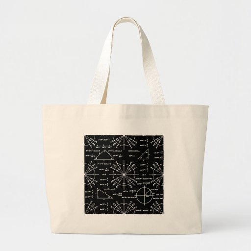 Trig y triángulos bolsas lienzo