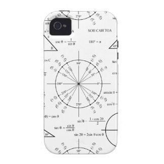 Trig y triángulos iPhone 4 carcasa