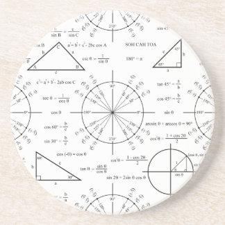 Trig y triángulos posavasos manualidades