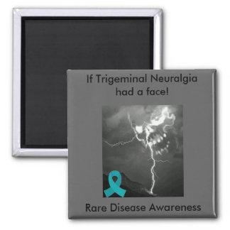 Trigeminal Neuralgia Awareness 2 Inch Square Magnet