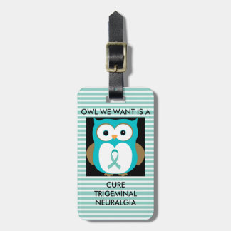 Trigeminal Neuralgia Awareness Bag Tag