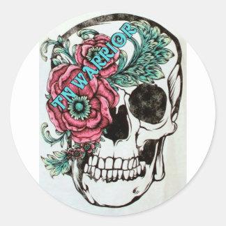 Trigeminal Neuralgia Awareness Classic Round Sticker