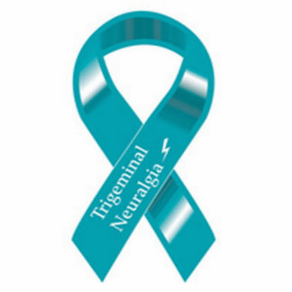 Trigeminal Neuralgia Awareness ribbon pin Statuette