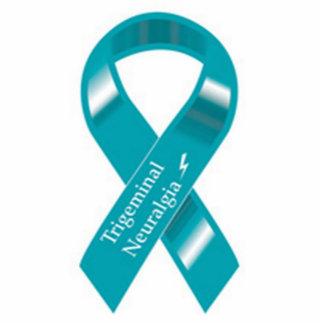 Trigeminal Neuralgia Awareness ribbon pin Statuette
