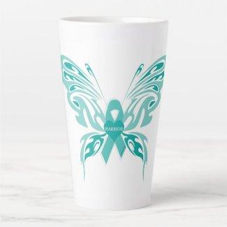 Trigeminal Neuralgia Butterfly #4 Latte Mug