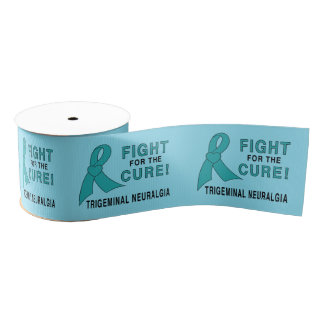 "Trigeminal Neuralgia Fignting for the Cure 3"" Grosgrain Ribbon"