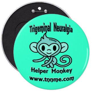 Trigeminal Neuralgia Helper Monkey Pin.