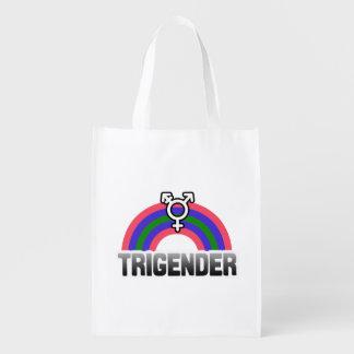 Trigender Pride Grocery Bag