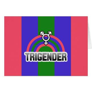 TRIGENDER RAINBOW GREETING CARD