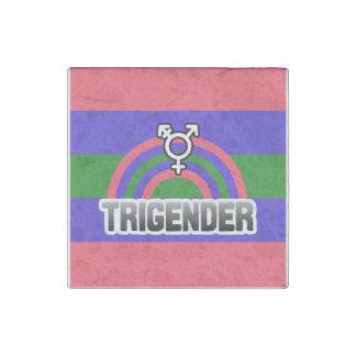 TRIGENDER RAINBOW STONE MAGNET