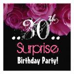 Trigésima plantilla del cumpleaños de la sorpresa  comunicados personalizados