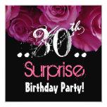 Trigésima plantilla del cumpleaños de la sorpresa invitación 13,3 cm x 13,3cm