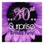 Trigésima plantilla del cumpleaños de la sorpresa  invitación