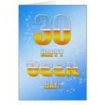 Trigésima tarjeta de cumpleaños del día feliz de