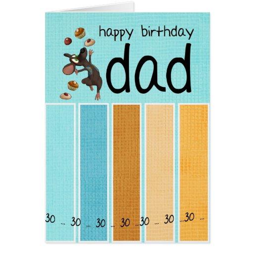 trigésima tarjeta de cumpleaños del papá con la to