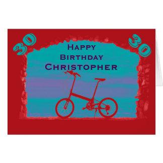 Trigésima tarjeta de felicitación feliz del
