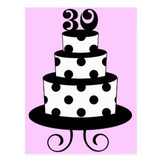 Trigésima torta de cumpleaños del lunar postales