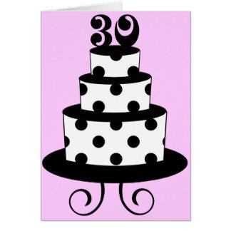 Trigésima torta de cumpleaños del lunar tarjeton