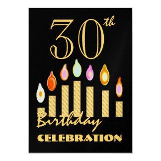 trigésimas - 39.as velas del oro de la invitación invitación 12,7 x 17,8 cm