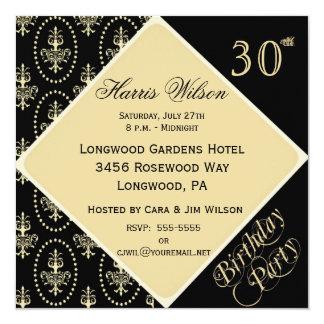 trigésimo-39.o Invitaciones del cumpleaños Invitación 13,3 Cm X 13,3cm
