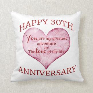 trigésimo. Aniversario Cojín