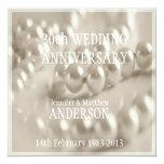 trigésimo Aniversario de boda de la perla Invitación 13,3 Cm X 13,3cm