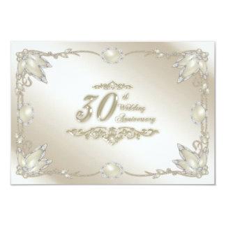 "trigésimo Aniversario de boda RSVP Invitación 3.5"" X 5"""