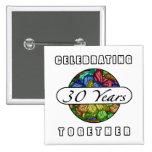 trigésimo Aniversario (mariposas) Pins