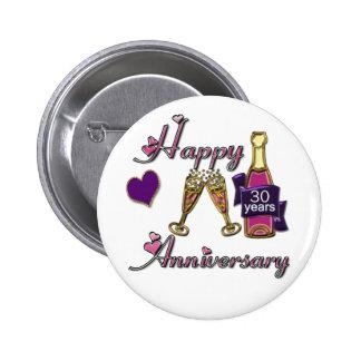 trigésimo. Aniversario Pins