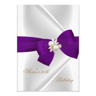 """trigésimo Arco púrpura de la joya blanca de la Invitación 5"""" X 7"""""""