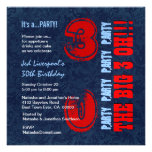 trigésimo Azul blanco rojo N451 del cumpleaños Comunicados Personales