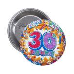 trigésimo Botón del cumpleaños Pin