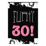 trigésimo Cebra rosada blanca negra del Grunge del Invitaciones Personales