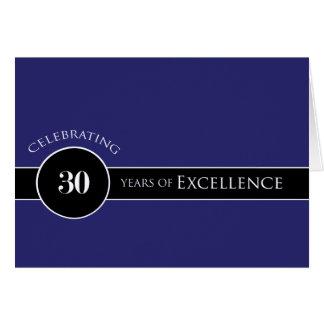 Trigésimo círculo del aniversario del empleado de tarjeta de felicitación