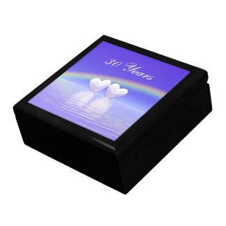 trigésimo Corazones de la perla del aniversario Caja De Joyas