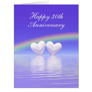 trigésimo Corazones de la perla del aniversario