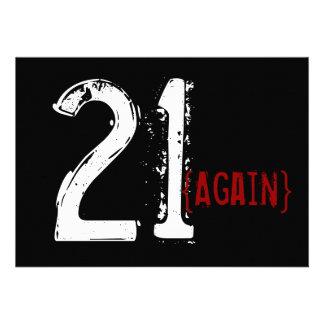 trigésimo cumpleaños - 21 otra vez - invitación de