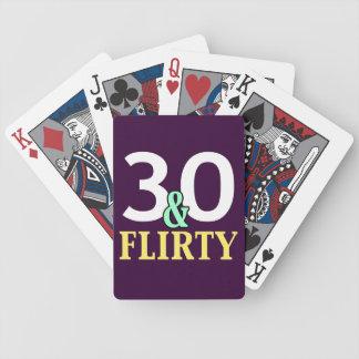 trigésimo Cumpleaños 30 y coqueto Barajas De Cartas