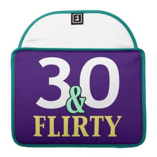 trigésimo Cumpleaños 30 y coqueto Funda Para Macbook Pro