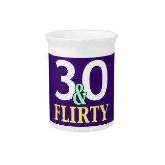 trigésimo Cumpleaños 30 y coqueto Jarra