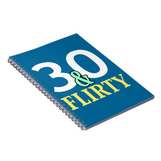 trigésimo Cumpleaños 30 y coqueto Libreta Espiral