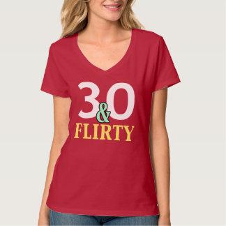 trigésimo Cumpleaños 30 y coqueto Playera
