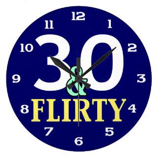 trigésimo Cumpleaños 30 y coqueto Reloj