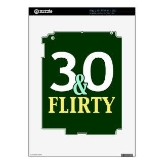 trigésimo Cumpleaños 30 y coqueto Skins Para iPad 2